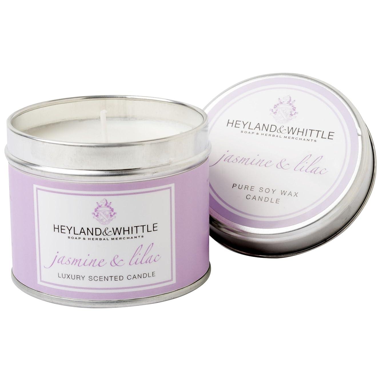カリング癒す教えるHeyland&削るジャスミン&ライラックキャンドルスズ (Heyland & Whittle) - Heyland & Whittle Jasmine & Lilac Candle Tin [並行輸入品]