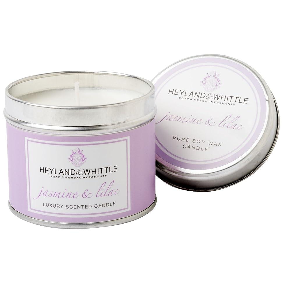 メッセンジャー同盟独立したHeyland&削るジャスミン&ライラックキャンドルスズ (Heyland & Whittle) - Heyland & Whittle Jasmine & Lilac Candle Tin [並行輸入品]