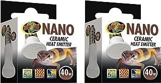 (2 Pack) Zoo Med Labs 40W Nano Ceramic Heat Emitter