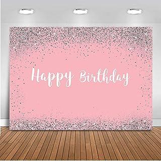 Mocsicka Fotohintergrund, 2,1 x 1,5 m, Glitzer, Pink, für Frauengeburtstag, Fotostudio Hintergrund