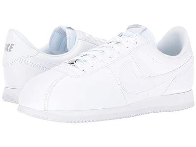 Nike Cortez Leather (White/Wolf Grey/Metallic Silver/White) Men
