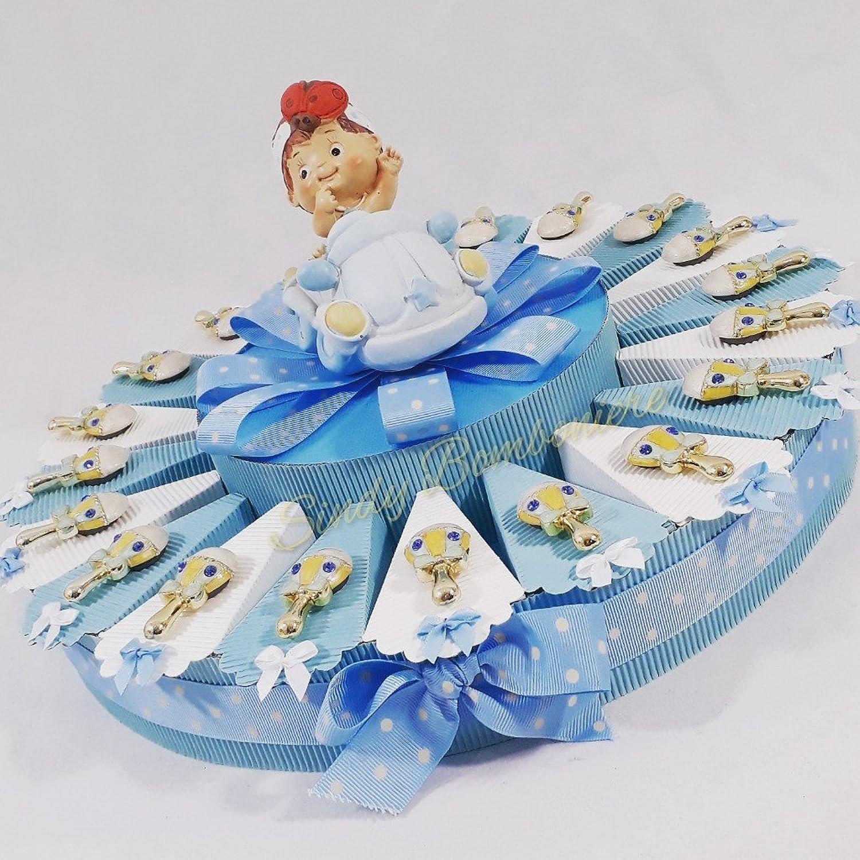 Torte Gastgeschenk für Taufe Geburt Rassel Magnet Junge mit Zentrale Auto Spardose Torta Da 35 Fette B078KPHGMG Spielzeugwelt, fröhlicher Ozean | Exquisite (mittlere) Verarbeitung
