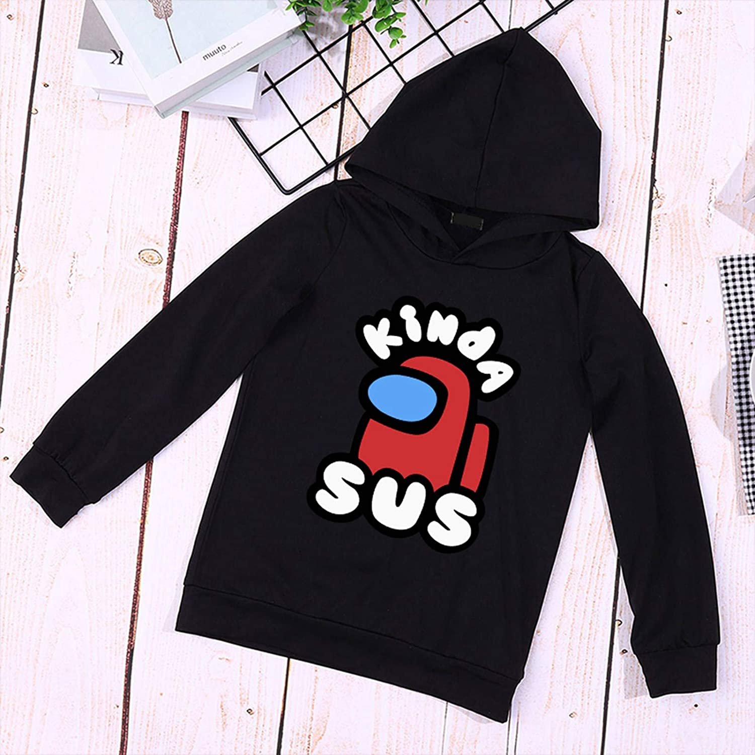 Queenromen Kids Among Us Hoodie with Trousers Tracksuit Game Lovers 2 Piece Set Suit