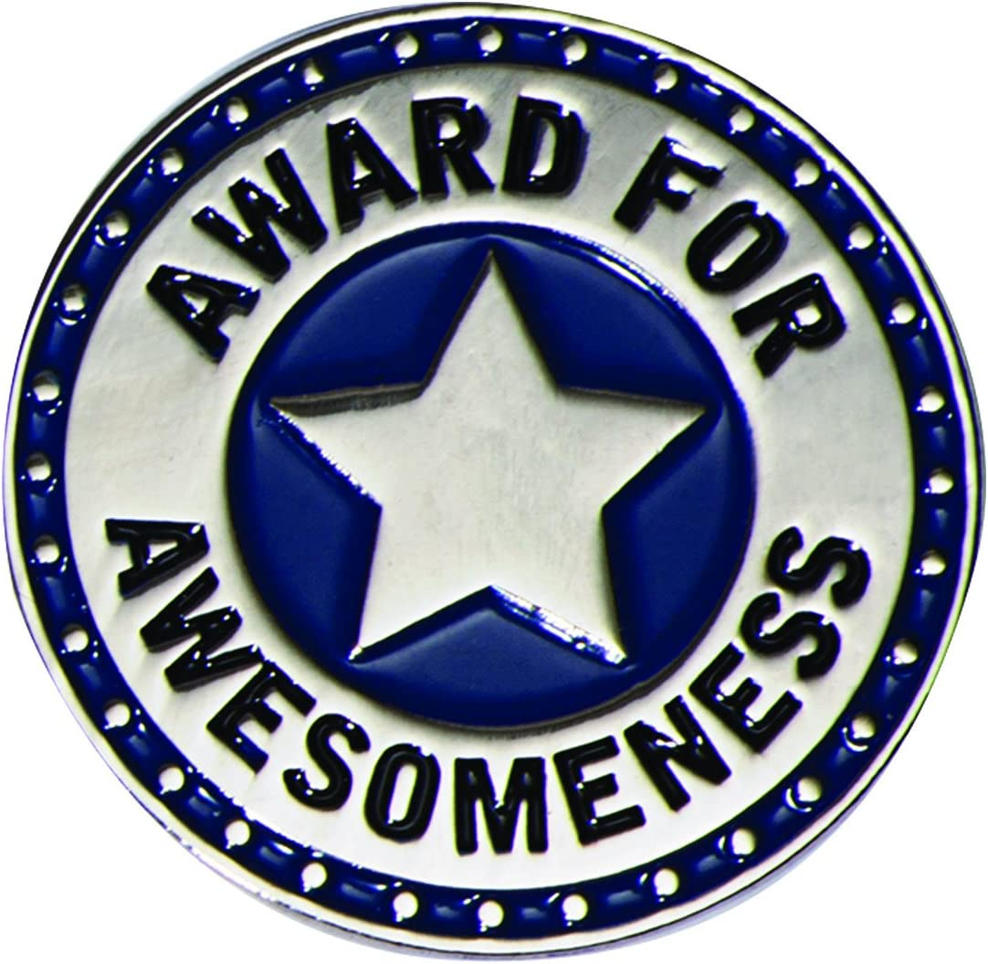 TCDesignerProducts Award for mart Awesomeness Blue P and Lapel Discount mail order Silver