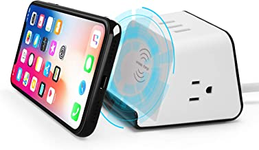 BTU Wireless Charger Qi Certified Wireless Charger with 3 USB 4.8A Charging Station, 2 AC Outlet Adapter and 5Ft Power Cord Compatible iPhone 11 XR/XS Max/XS/X, Samsung Galaxy S9/S9+/S8/S8+/S7