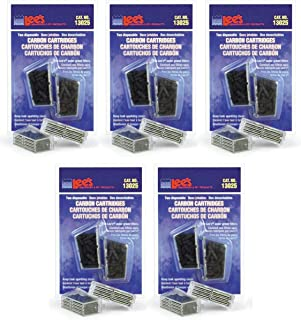 Lee's 10 Pack of Carbon Cartridge, Disposable, for Aquarium Filters