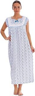 Malay Women Sleeveless Nightwear Floral Print 100% Cotton Long Nightdress M to XXXL