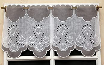 brise-bise vitrage modulable droit pampilles Rideaux H 20 X L 45 cm