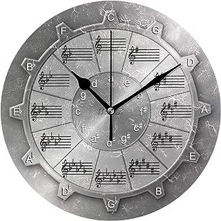 MIKAミュージシャン 五番目 ギア 必要 円 時計 壁掛け デザイン クロック 掛け時計 置き時計 ウォールクロック インテリア 壁掛け 時刻 ギフト プレゼント 新築祝い おしゃれ 飾る かわいい アート