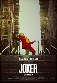 Joker Movie Poster 24 x 36 Inches Full Sized Print Unframed Ready for Display Joaquin Phoenix