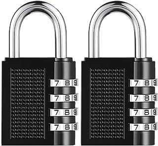 [2019 Upgrade] BYETOO Combination Lock for Locker Outdoor,Towoke Resettable Weatherproof Combination Padlock,4 Digit Smoot...