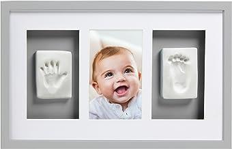 Pearhead P63001 Baby avtryck Deluxe vägg-bildram med inkluderat set för att skapa hand/fotavtryck, perfekt dusch present s...