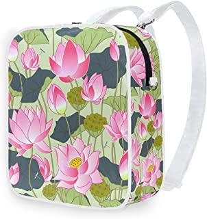 DEZIRO - Mochila de hombro con flores de loto, color rosa