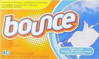 Bounce Fresh Linen Toallitas de Secadora, 40 unidades
