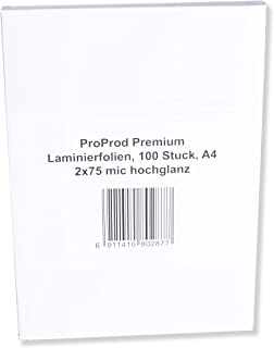 ProProd Premium A4 150 μ Glossy Laminating Pouch (Pack of 100)