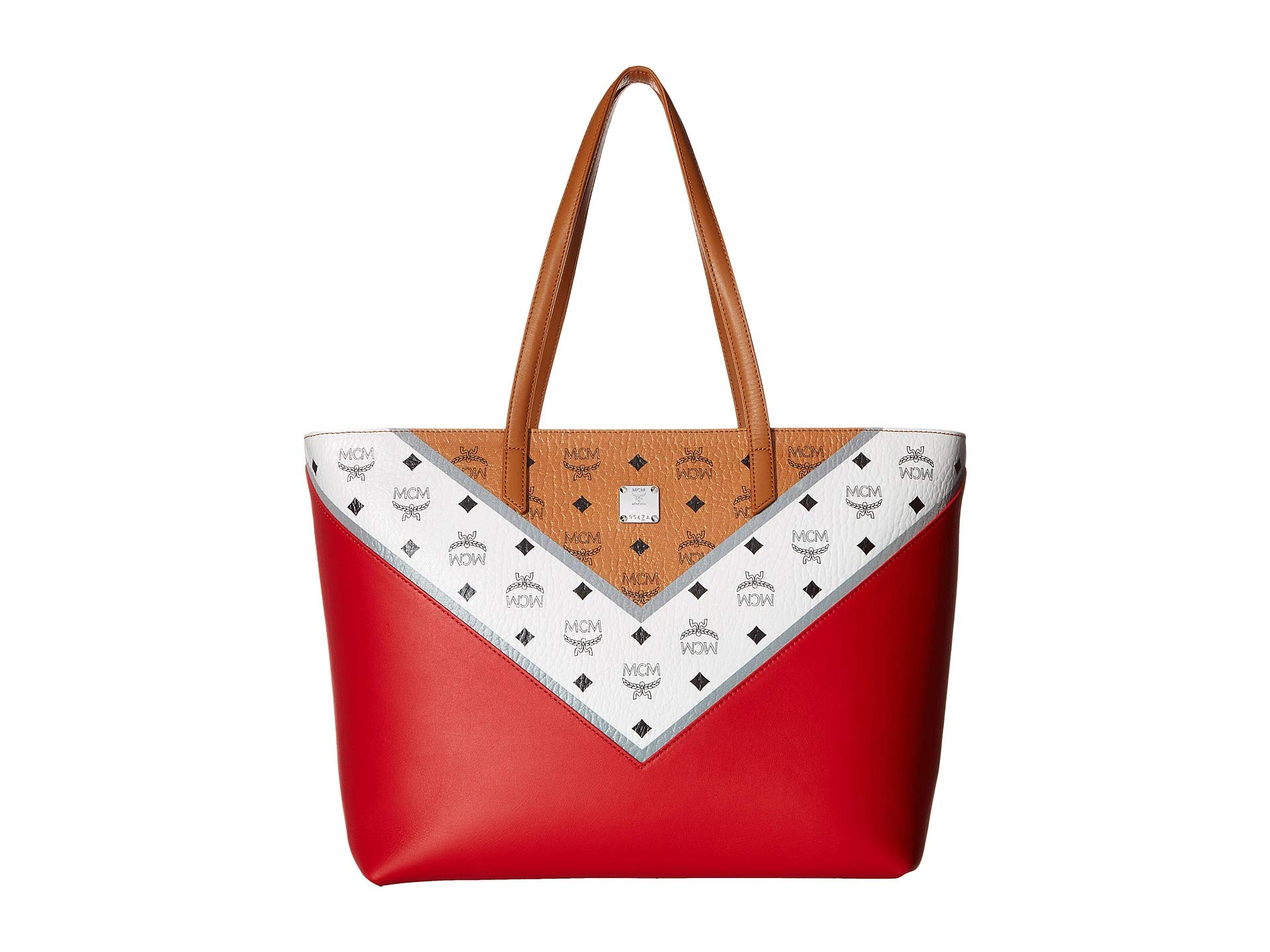 Mcm Move Cognac M Shopper Visetos red Medium xrgTnxw1