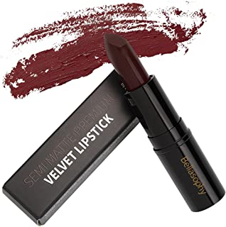 Bellasophy Long Lasting Smooth Semi Matte Lipstick Velvet Perfect Moisturizing Lipstick-Dark Red