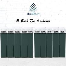 Cera depilatoria Roll On 8 x cartuchos de 100ml Azuleno - Alta calidad - Roll-on Cera para depilación