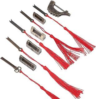 VICASKY 5 conjuntos de cadeados vintage de cadeados antigos chineses de latão antigo cadeado retrô para gavetas, joias, ga...