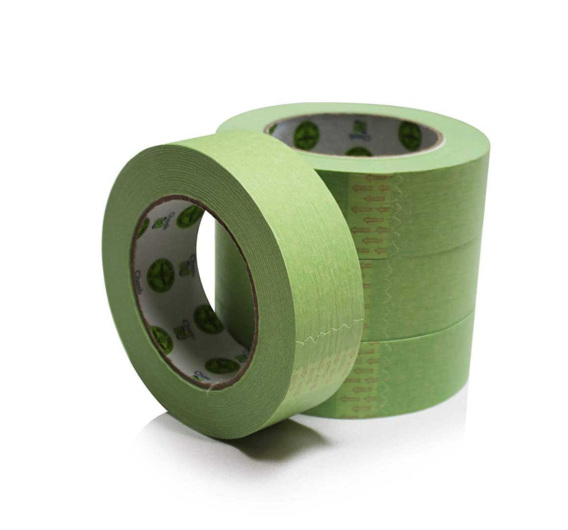 Insta Finish New Easy Stick, Easy Release Green Masking Tape for Automotive and Industrial Painting (1.5 inch x 60 Yards (1 case of 24 Rolls))