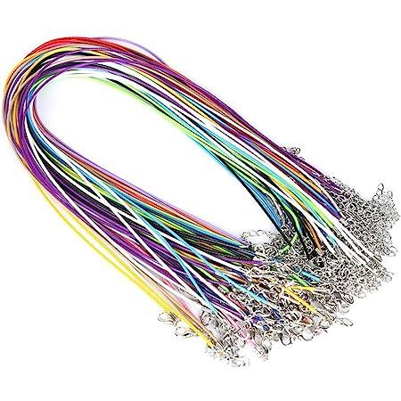 SUPVOX - 10 collane in cera con cordoncino con chiusura per collana, ciondolo girocollo per fabbricazione di gioielli, colori assortiti