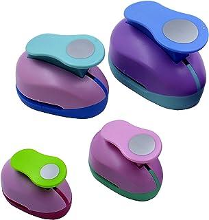 CINY 4 pcs Circle Shaper Punch Set Dispositif de Gaufrage Rond (50mm, 38mm, 25mm 9 mm) Poinçons en Papier Pour Scrapbookin...