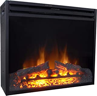 Cambridge 25-in. Freestanding 5116 BTU Electric Ventless Heater Insert with Remote Control, CAM25INS-1BLK Fireplace Black