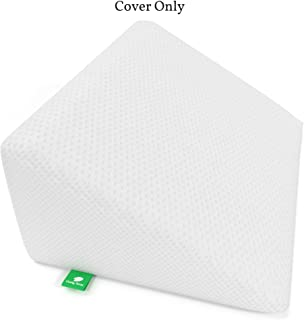 [Replacement Cover] Bed Wedge Pillow Replacement Cover - Fits Cushy Form 12 Inch Wedge Pillow - Hypoallergenic, Machine Washable Case (Replacement Cover ONLY 12