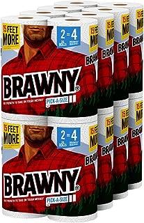 Brawny Paper Towels, 16 XL Rolls, Pick-a-Size ,16 = 32 Regular Rolls, White