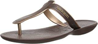 havaianas Womens Casuale Sandal Brown Brown Size: Brown