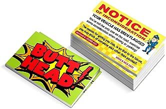 Funny Parking Ticket Prank - Notice of Inconsideration Joke Business Card Gag - Bad Parking Cards