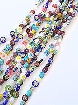 Strands of Fancy Round Glass Millefiori Beads- Jewelry Supplies