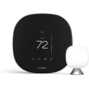 ecobee SmartThermostat with Voice Control, SmartSensor Included, Alexa Built-In