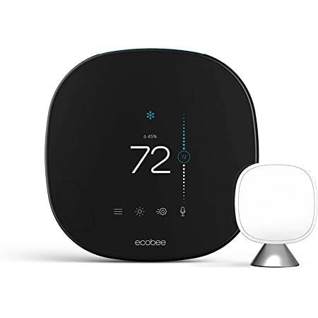 ecobee SmartThermostat Smart Thermostat Voice Control, Black