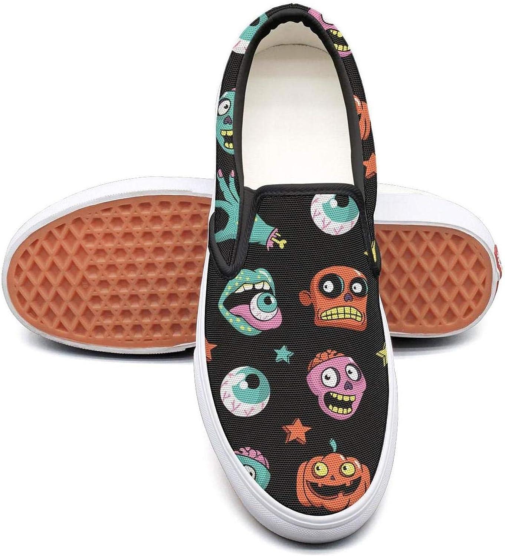 Sernfinjdr Women's Weirdo Halloween Art pop Fashion Casual Canvas Slip on shoes Sports Running Sneaker shoes