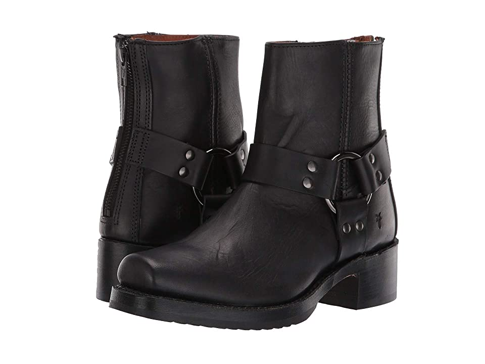 Frye Heirloom Harness Back Zip (Black) Women's Boots