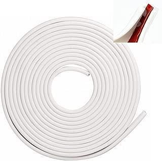 Car Door Edge Guards Trim Anti Door Ding Rubber Strips 16 Feet White