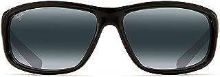 Maui Jim Spartan Reef 278-02 | Polarized Gloss Black Wrap Frame Sunglasses, Patented PolarizedPlus2 Lens Technology