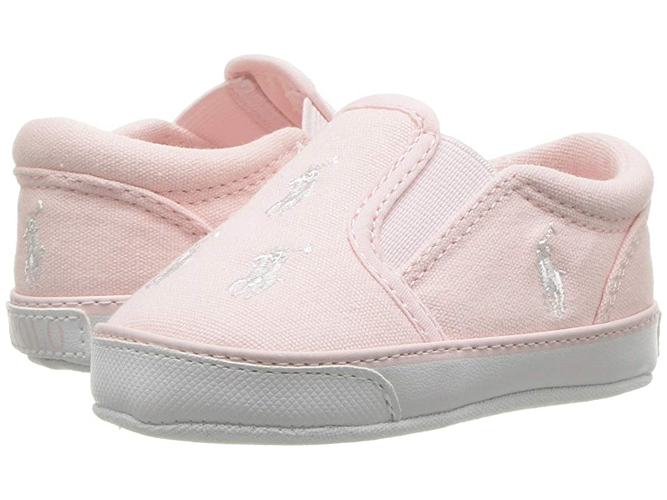 Polo Ralph Lauren Kids Bal Harbour Repeat (Infant/Toddler) (Light Pink Canvas/White PP) Girls Shoes