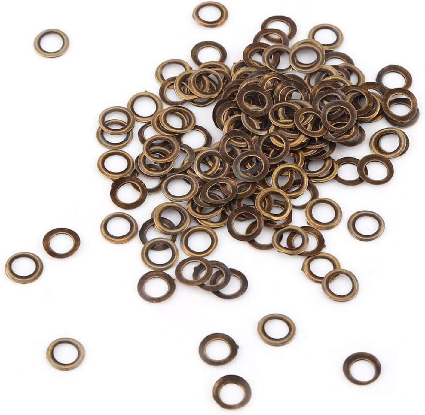Durable Brass Eyelets, Metal Grommets, with Washers Small Clothe