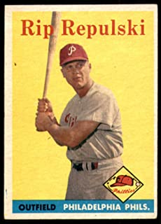 Baseball MLB 1958 Topps #14 Rip Repulski Excellent Phillies