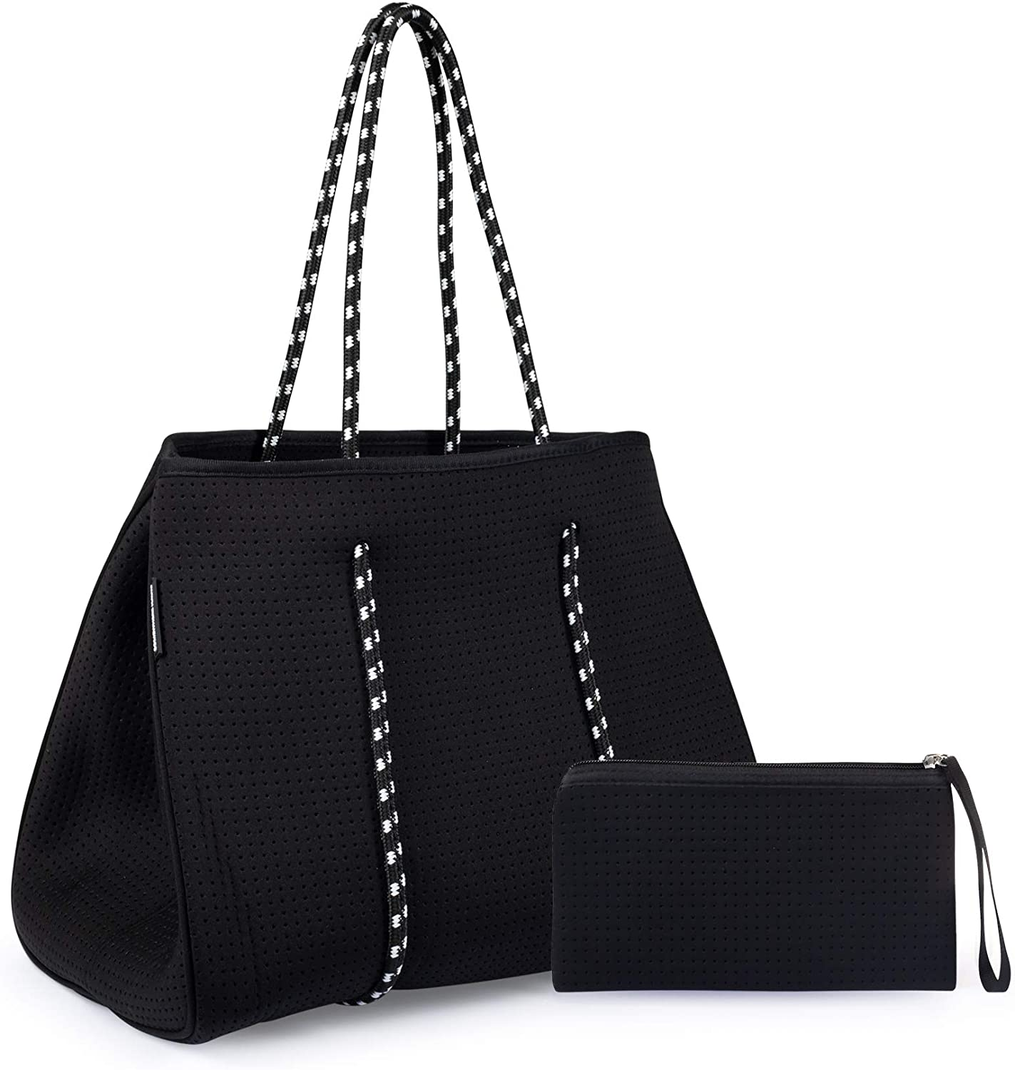 Somewhere Haute Neoprene Tote Bag With Shoulder Straps for Women