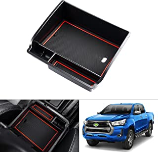 kotesoto Car Center Console Armrest Storage Organizer Tray Compatible for Toyota Hilux 2015 2016 2017 2018 2019 2020 with ...