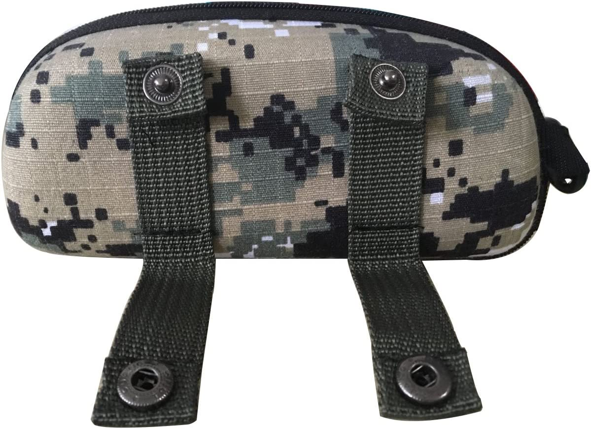 Brave Tour Protective Hard Carrying Case for Sunglasses Eyeglasses (Digital Camouflage)