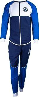 طقم رياضي شتوي كاجوال للرجال مريح باكمام طويلة أزرق XL