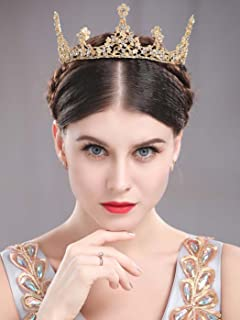 Unicra Gold Vintage Tiaras and Crowns Wedding Bridal Headbands Queen Crowns for Women and Girls