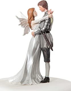 Wedding Collectibles Personalized Fantasy Fairy Wedding Cake Topper: Bride Hair: RED - Groom Hair: BROWN