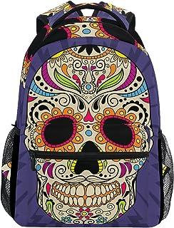 Mochila de calavera mexicana para la escuela, mochila de senderismo, mochila de viaje