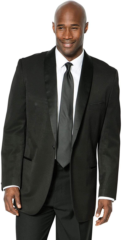 KS Signature by Kingsize Men's Big & Tall Tuxedo Jacket - Tall - 60, Black