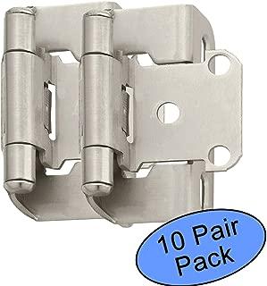 Amerock BP7550-G10 Satin Nickel Self-Closing Partial Wrap Cabinet Hinge 1/2